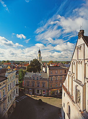 Wschowa - View from Protestant church to town hall