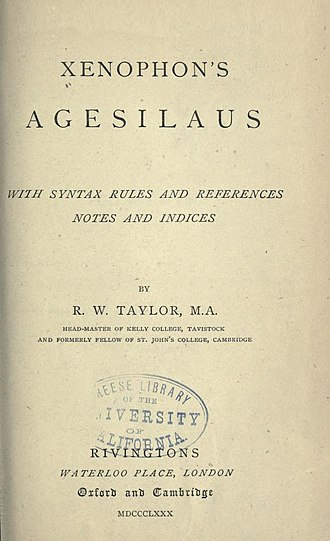 Agesilaus II - Xenophon's Agesilaus.