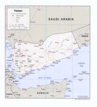 Mapa de Yemen.