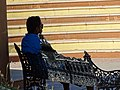 Young Man on Park Bench - Cabo San Lucas - Baja California Sur - Mexico (23418093132).jpg