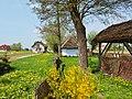 Zalipie museum - backyard of the Felicja Curyłowa's farm 2.JPG