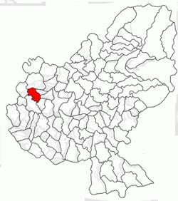 Vị trí của Zau de Câmpie
