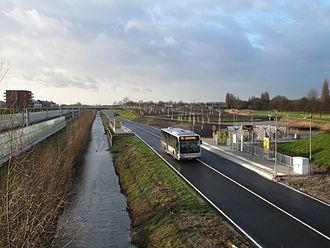 RandstadRail - A RandstadRail bus near Berkel en Rodenrijs.