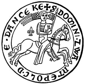 Danzig law - Seal of Zwantepolc de Danceke, 1228