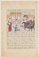 """Alexander Executes Janusiyar and Mahiyar, the Slayers of Darius"", Folio from a Shahnama (Book of Kings) of Firdausi MET DP215675.jpg"