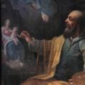 """""""Der Heilige Lukas malt seine Vision"""" von Stephan Dorfmeister; 1785.tiff"""