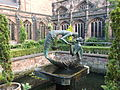 """The Water of Life"" sculpture in Chester Cathedral cloister garth (14).JPG"