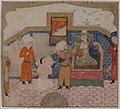 """Zahhak Brought as a Prisoner before Faridun"", Folio from a Shahnama (Book of Kings) MET sf-1975-192-23r.jpg"