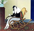 'Mrs. T' by Wada Seika, painted screen, 1932, Honolulu Museum of Art.jpg