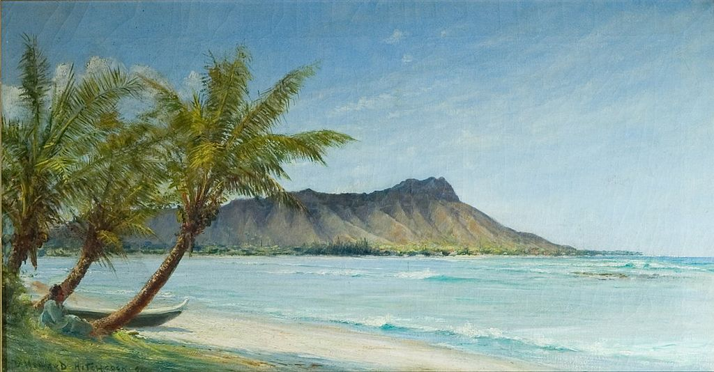 'Waikiki Beach in Sunlight' by D. Howard Hitchcock, 1896