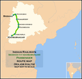 (Bodhan - Mahbubnagar) Passenger train route map.png