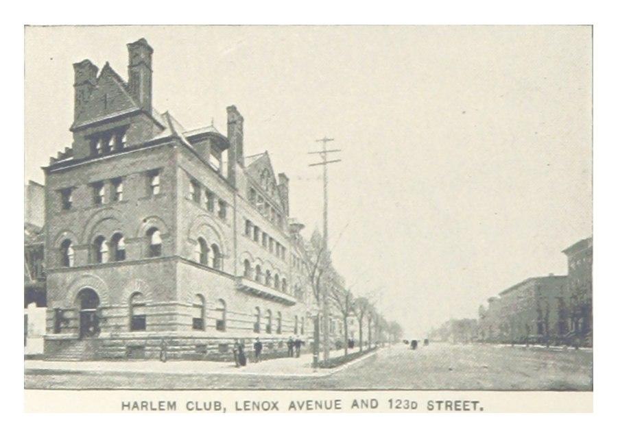 (King1893NYC) pg554 HARLEM CLUB, LENOA AVENUE AND 123D STREET
