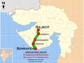 (Somnath - Rajkot) Passenger (Veraval - Rajkot) Express route map.png