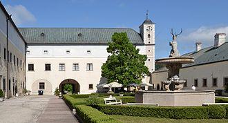 Červený Kameň Castle - Courtyard of the castle