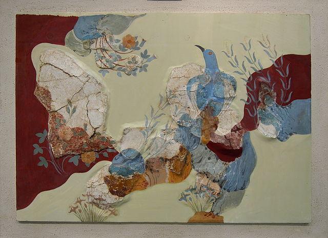 Blue Bird fresco, Knossos