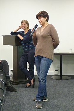 Анна Сорокина и Валерия Касамара в Ельцин-центре 15 ноября 2018 года.jpg
