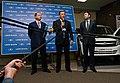 Артяков, Комаров и его пресс-секретарь на пресс-конференции по выпуску Lada Granta в серию.jpg