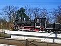 Боярка - Пам'ятний знак (паровоз К-15776) на честь будівників вузькоколійки P1060450.JPG