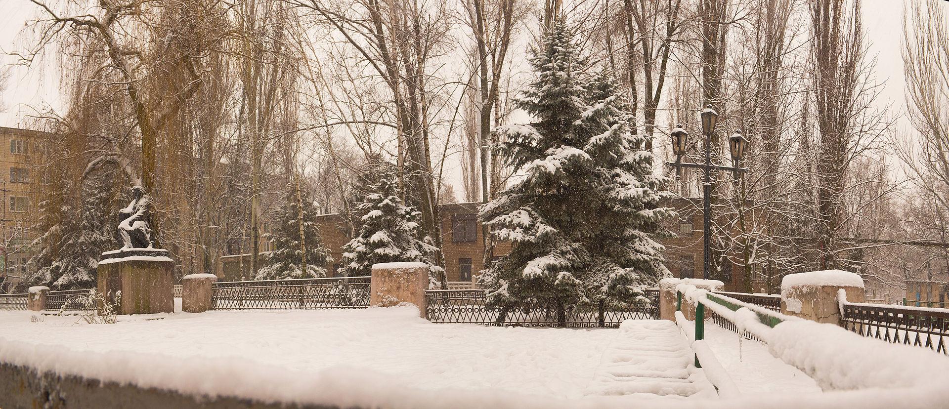 Сквер Пушкина, зима 2012