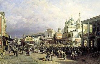Historic centre of Nizhny Novgorod - Lower Posad and the Kremlin