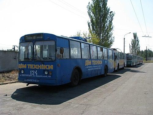Окраска кузова троллейбуса в