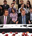 Форум «Глобальное инновационное партнёрство». С губернатором штата Калифорния Арнольдом Шварценеггером.jpg