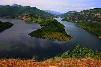 Reservoir - Kardzali Reservoir in Bulgaria is a reservoir in the Rhodope Mountains.
