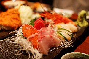 Sashimi - Sashimi (at front)
