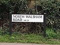 -2019-02-20 Street name sign, North Walsham Road, Trunch.JPG
