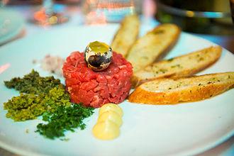 Steak tartare - Steak tartare in the French Quarter of San Francisco