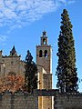 035 Monestir de Sant Cugat del Vallès, campanar, façana oest.JPG