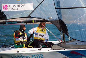 Liesl Tesch - Tesch and Fitzgibbon at the 2012 London Paralympics