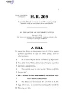 116th United States Congress H. R. 0000209 (1st session) - Ethics in Public Service Act.pdf