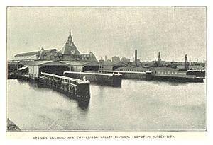 Jersey City, New Jersey - The ferry docks at the Communipaw Terminal in Liberty State Park in 1893