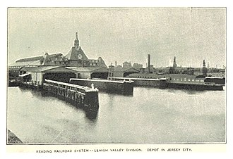 Central Railroad of New Jersey Terminal - The Terminal in 1893