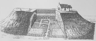 Saint-Michel tumulus - Saint-Michel tumulus  plan (by Zacharie Le Rouzic - Archaeologist who undertook new research and discovered new chests around the central chamber).