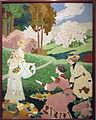 138 Tres dones collint fruita, de Gaspar Homar unframed.jpg