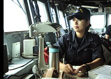 a us navy quartermaster recording bearings in 2015