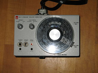 Stroboscope - Close-up view of the 1540 Strobolume control box