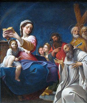 Ludovico Carracci - Image: 1607 Carracci Madonna mit Kind und Heiligen anagoria