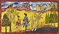1653 CE Ramayana manuscript, Mewar manuscript, Kiskindha kanda, Rama and Lakshmana arrive at Lake Pampa (now Hampi, Vijayanagara), Hanuman finds them.jpg