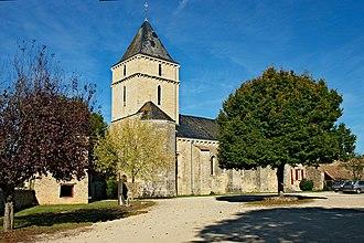 Sainte-Soline - The church of Sainte-Maixent, in Sainte-Soline