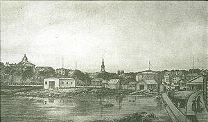 Park Square (Boston) - Image: 1837 Park Square Boston LOC030074v