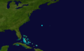 1853 Atlantic tropical storm 1 track.png