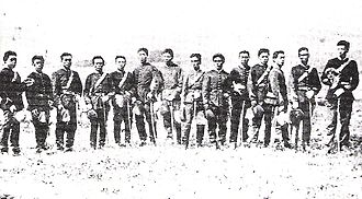 Imperial Japanese Army - Soldiers of the Imperial Japanese Army in 1875.