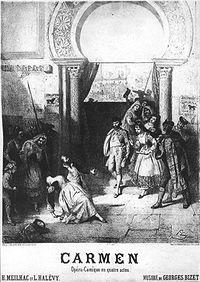 1875 poster for Bizet's Carmen