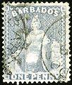 1875ca 1d-Barbados dull blue Mi26 Yv33 SG73.jpg