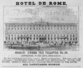 1885 Hotel deRome Berlin ad Harpers Handbook for Travellers in Europe.png