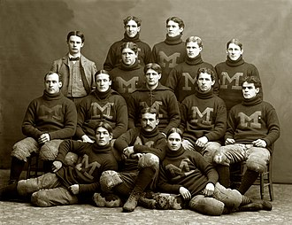 1897 Michigan Wolverines football team - Image: 1897 Michigan Wolverines football team
