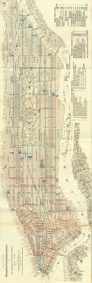 Lenox Avenue Line (surface) - Image: 1899 Manhattan street railways